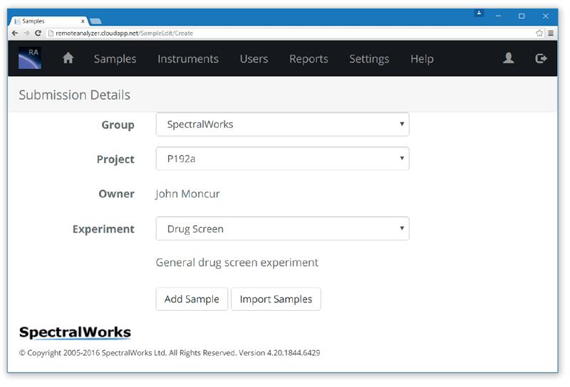 Submit a sample to RemoteAnalyzer